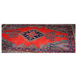 SALE Oriental rug: Hamadan: Vintage : cotton and wool, Extremely Fine!