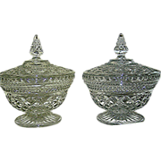 SALE Pressed glass compotes, matching, 20th. c.