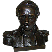 SALE Statue:Bronze bust of military officer, anonymous