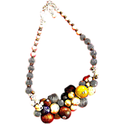SALE A stunning Chicoes Necklace, vintage with excellent beaded, cluster workmanship