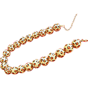 """SALE Spotted, big beaded, plastic, necklace- 19""""l x 12cm. beads"""