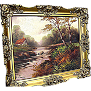SALE Oil Painting signed E. Coler from the late 19th century