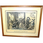 "SALE Antique print, Currier & Ives, ""The Four Seasons of Life: Middle Age"""