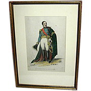 SALE Napoleonic Original Print of Prince Eugene Beauharnais from the late 19th century