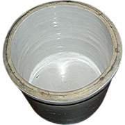 SALE South central PA, gray stoneware crock, Late 19th c.
