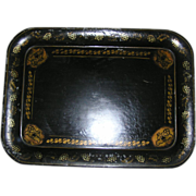 SOLD Antique Stenciled Tole Tray very large out of Lancaster's Amish Country!