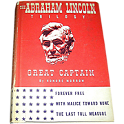 SALE Book entitled The Abraham Lincoln Trilogy by hondre Morrow, 1927