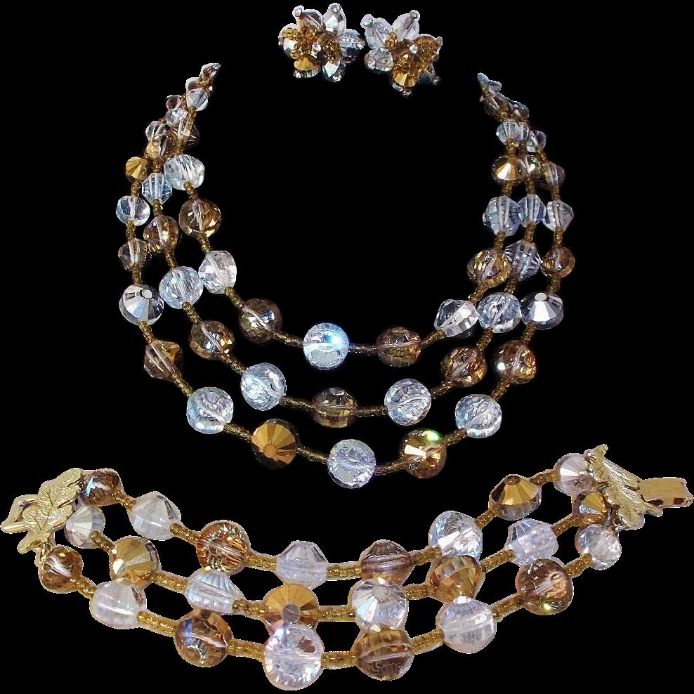 vintage vendome by coro parure necklace bracelet and