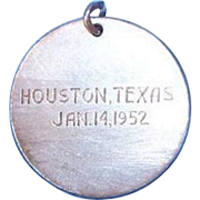 SALE Sterling Silver Houston Texas 1952 Charm