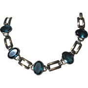 vintage Engel Brothers gold filled Blue Topaz glass stones Bracelet