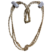 estate 14kt three strand Rope Knot Necklace