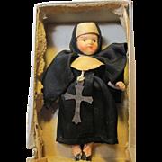 SALE PENDING tiny vintage Nun Doll in original box