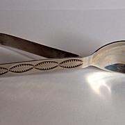Vintage Navajo Stamped Sterling Silver Baby Spoon
