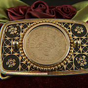 Vintage Circus Circus Las Vegas 1989 Dollar Gaming Token Belt Buckle