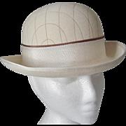Cream Wool Felt Rolled Brim Hat wool felt -England