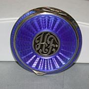SALE Vintage Guilloche Enamel Compact