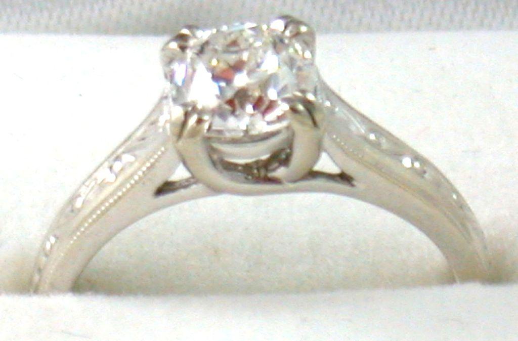 Estate 14KW  .85CT Old European Cut Diamond