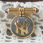 Estate Bulgari New York Yankee Pin