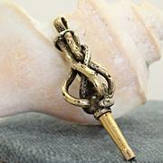 SALE Vintage 18K and Brass Watch Key