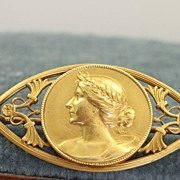 SALE 18K Victorian French Brooch