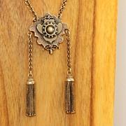 SALE 15 C Victorian Belcher Chain with Watch Brooch