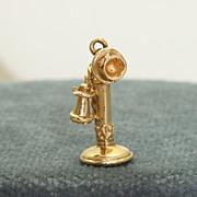 14K Vintage Phone Charm