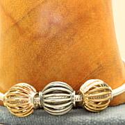 "SALE Estate 7 1/2"" Sterling Snake Chain Bracelet , Italy"