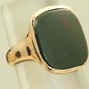 SALE 14K Rose Gold Bloodstone Shreve & Co Ring
