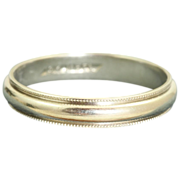 Estate Jabel 18 K White Gold Band