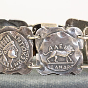 Vintage Greek Coin Bracelet