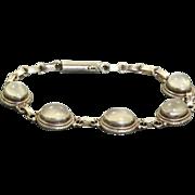 Estate Deco Sterling Moonstone Bracelet