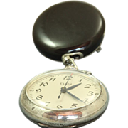 SALE 1939 Elgin Sterling and Onyx  Nurse's Watch