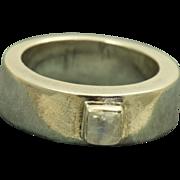 SALE Estate Sterling Moonstone Modernist Ring