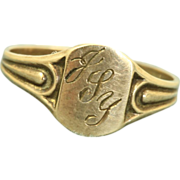SALE Estate 10 K Baby Signet Ring