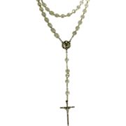 SALE Estate Sterling Crystal Rosary