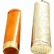 SALE 1914 Birmingham Sterling/9 CT Cigar Holder Fob