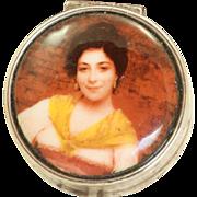 SOLD Sterling Portrait Pill Box
