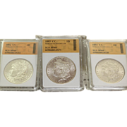 SOLD 1882-1884 CC Morgan Silver Dollars Certified MS 66