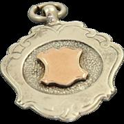 1861 Sterling/Rose Gold Watch Fob Birmingham, England