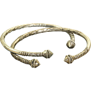 SALE Pair Sterling Etruscan Revival Bangles