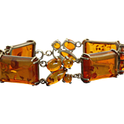 Sterling Vintage Baltic Sea Amber Bracelet