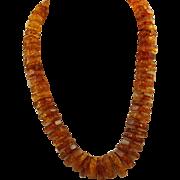 Estate Graduated Baltic Sea Honey Amber Necklace