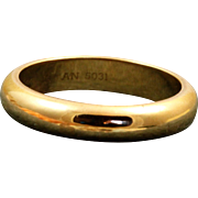18 K Cartier Gold Band
