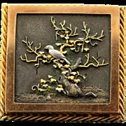 Early 20th Century Shakudo Brooch
