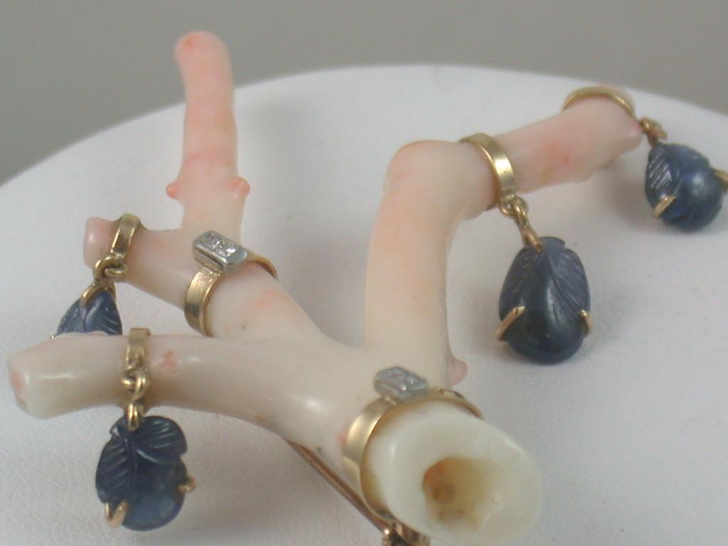 Bejeweled Angel Coral Brooch
