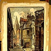 Vintage Woodblock Print Signed, Monogrammed & Numbered