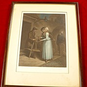 SOLD Pair Of Lovely Antique Appleton Prints-Signed and with Frames