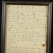 SALE Hand Written Letter From 1792 Revolutionary War Veteran From Rhode Island