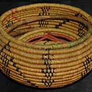 SALE Antique Native American Covered Coil Basket
