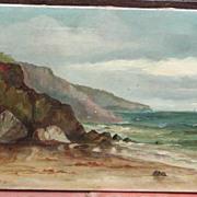 Oil painting of Cornwall..Coastal Cornwall scene..